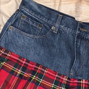 Design Lab Lord & Taylor Skirts - Women's never worn jean/plaid mix skirt design lab